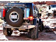 Modular Jeep JK Tire Carrier Rear Bumper