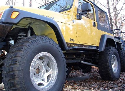 Jeep TJ Rock Sliders Rocker Guards Rocker Protection Rock Rails