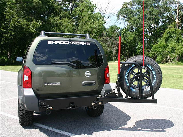 2005 2016 xterra rear bumper spare tire carrier
