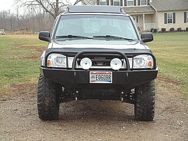 Nissan Frontier Winch Bumper Bull Bar (1998-2004), Nissan Front Bumpers,