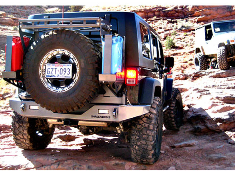 Modular Jeep JK Tire Carrier Rear Bumper. Modular ...