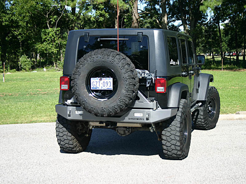 Jeep Jk Tires >> Shrockworks Modular Jeep Jk Tire Carrier Tire Rack Jerry Can Mounts