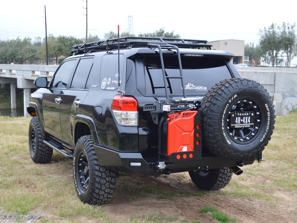 4runner rear bumper tire rack 5th gen 2010 2018. Black Bedroom Furniture Sets. Home Design Ideas